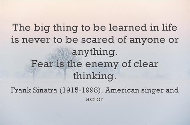 Frank Sinatra Courage Quote