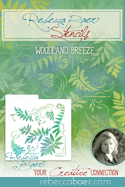Woodland Breeze Fern Stencil | RebeccaBaer.com