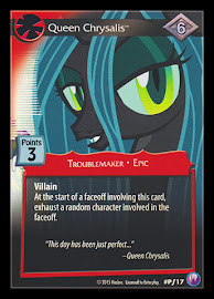 My Little Pony Queen Chrysalis Canterlot Nights CCG Card