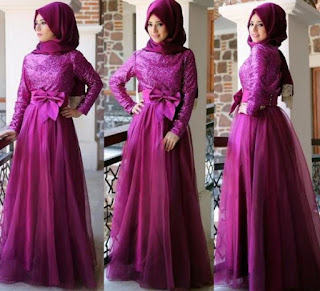 Model Baju Batik Kombinasi Brokat polos