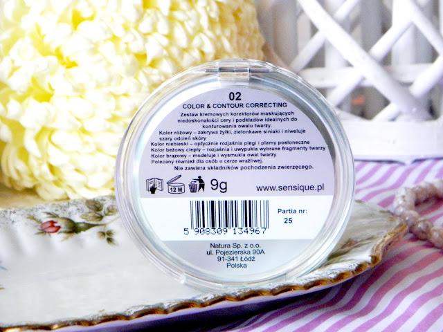 paleta kremowych produktów do konturowania