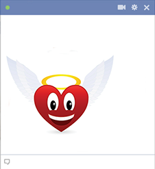 Heart icon with angel wings