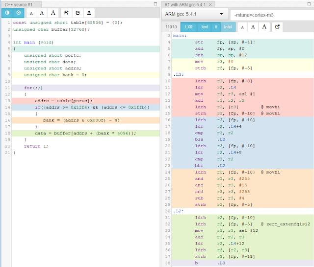 código em C e em ASM