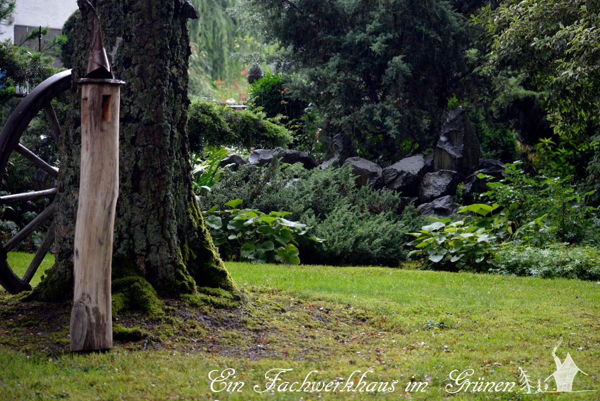 Der Garten im Regen