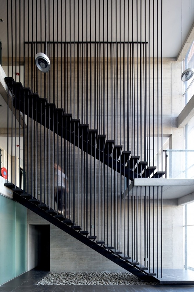 Double black steel stairs