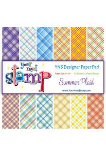 Summer Plaid Designer Paper Pad