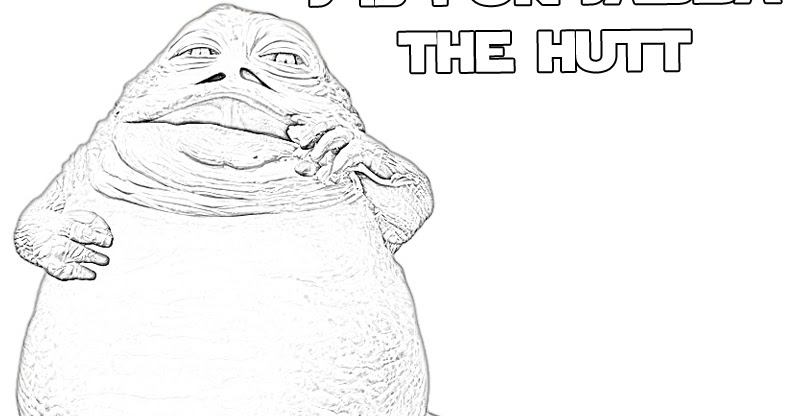 Should You Color Jabba the Hutt The Star Wars Mom
