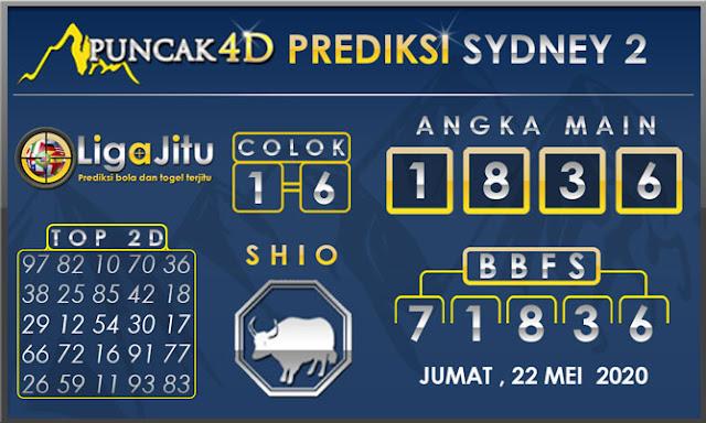 PREDIKSI TOGEL SYDNEY2 PUNCAK4D 22 MEI 2020