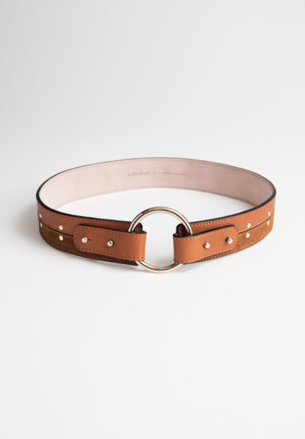 and other stories studded waist belt
