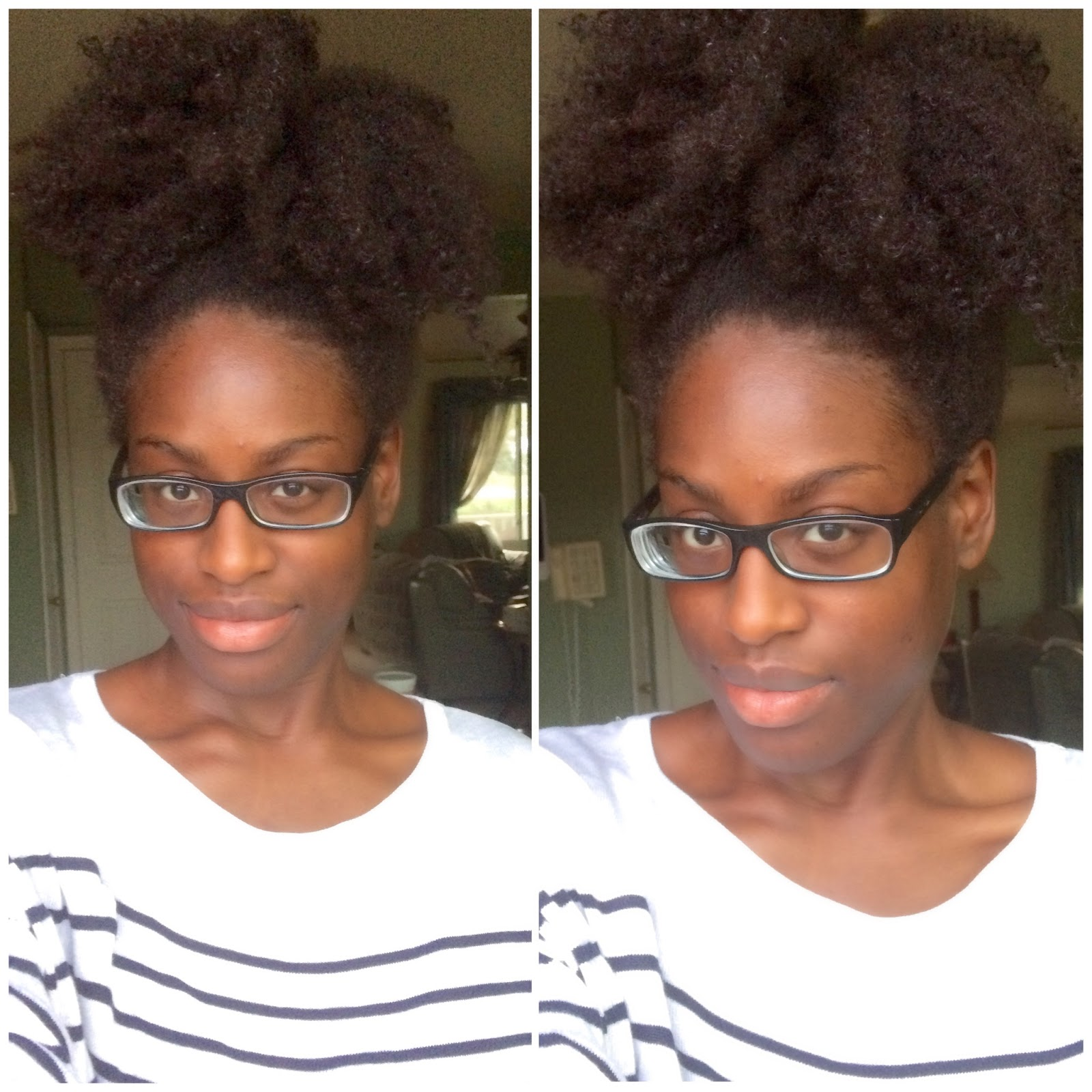 FroBunni | Natural Hair Puff on Wash Day