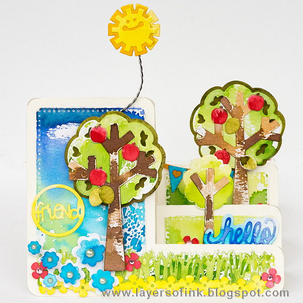 Layers of ink - Step Into Spring Tree Card by Anna-Karin with Sizzix dies by Stephanie Barnard
