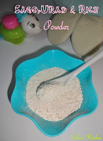 Sago-Urad-Rice porridge