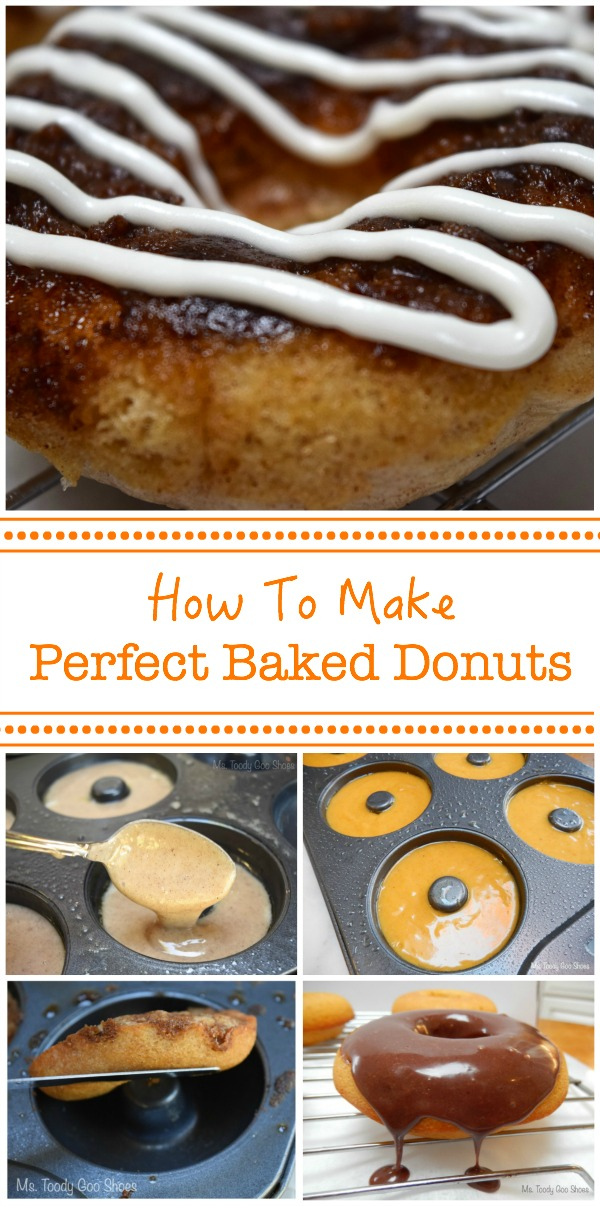 Don't know how to make baked donuts? Here are some tips on how to make perfect baked donuts every time. | Ms. Toody Goo Shoes #bakeddonuts
