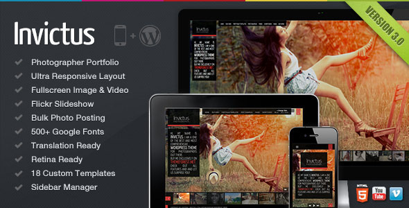 Invictus Wordpress Video & Fotoğraf Teması