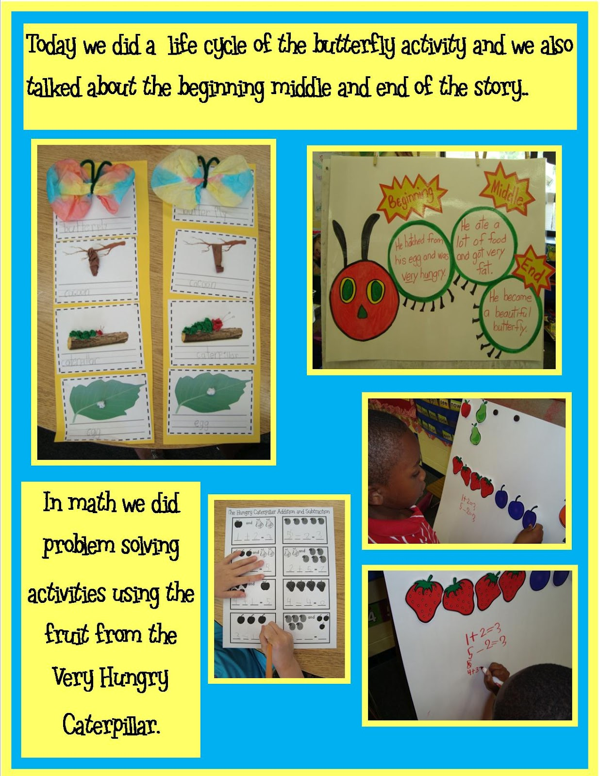 What I Learned In Kindergarten Hungry Caterpillar Ideas