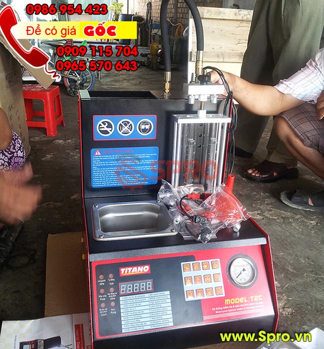 Máy súc rửa vệ sinh béc phun, máy làm sạch và kiểm tra kim phun t2c