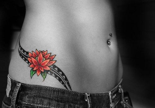 1990Tattoos: Rose Tattoos On Hips