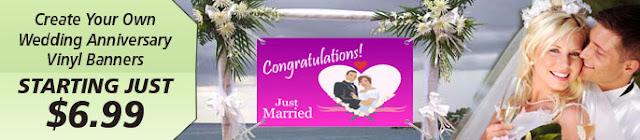 Wedding Anniversary Vinyl Banners