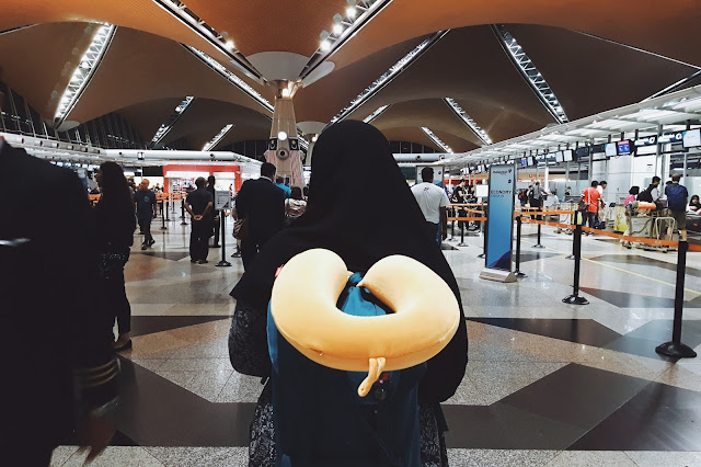 Farah at the KLIA