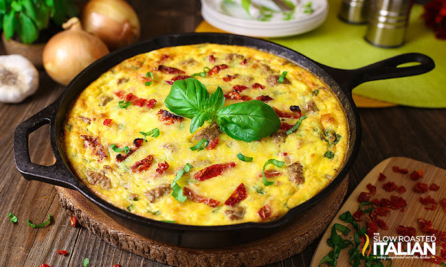 Sun-Dried Tomato and Ricotta Frittata