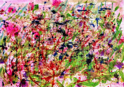 Distorted Society: Ink on paperboard: Abstract Expressionism Art: Miabo Enyadike