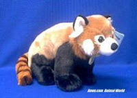 large red panda stuffed animal toy