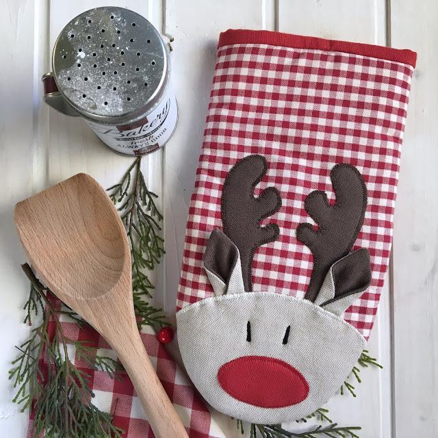 guantone da forno natalizio renna rudolph