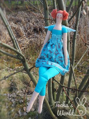 Ostara, Easter, rabbit, hare, Tilda doll, angel, Fairt Trade Fabric, Lewis & Irene, cotton, spring, fair trade fortnight,