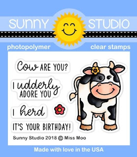Sunny Studio Stamps: Introducing Miss Moo 2x3 Photopolymer Clear Cow Stamp Set