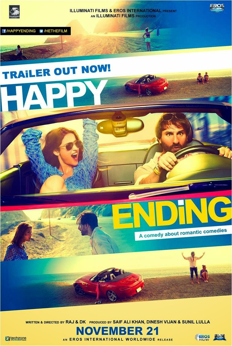 Saif Ali Khan and Ileana starer Happy Ending movie poster: A comedy about romantic comedies