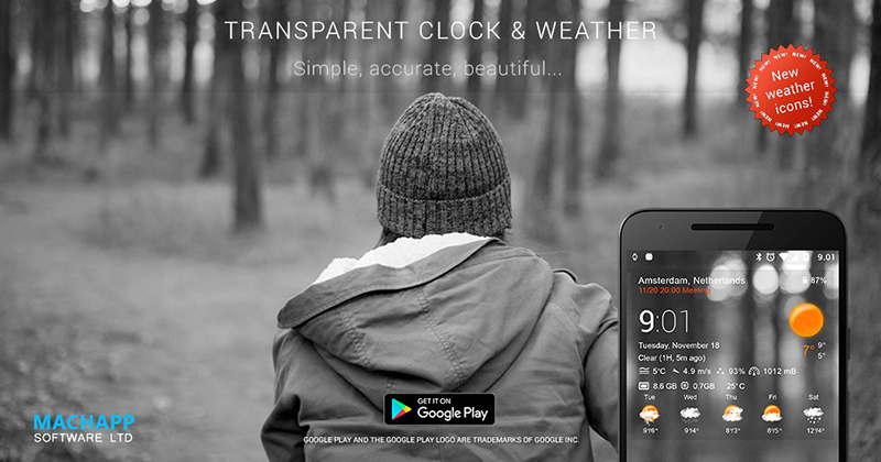 clock and weather app