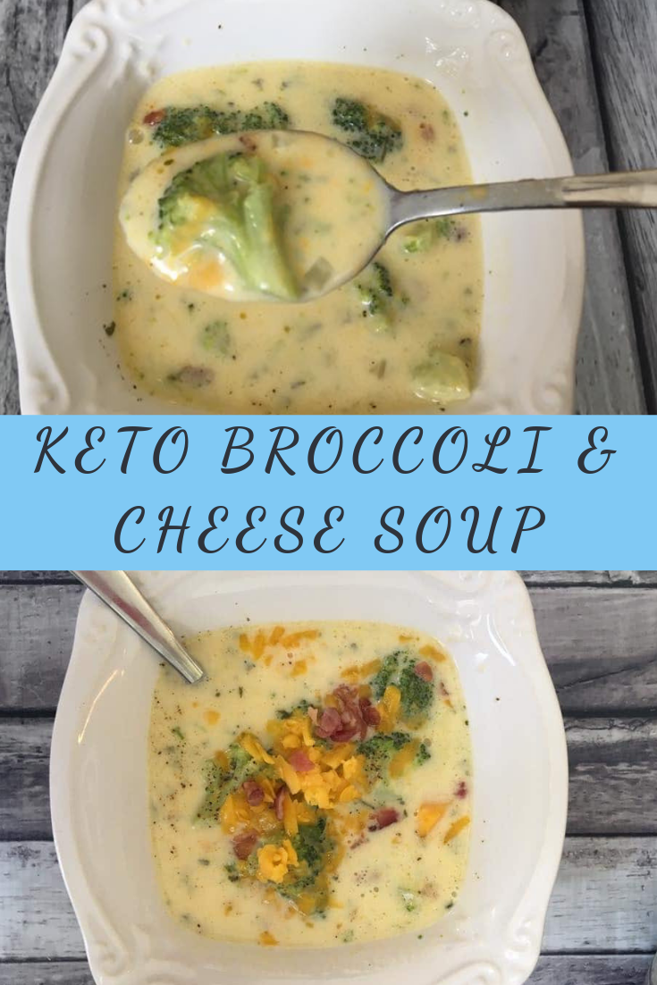 KETO BROCCOLI & CHEESE SOUP RECIPE