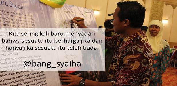 Agar pulpen tidak mudah hilang, pulpen mahal, bang Syaiha, penderita polio, http://bang-syaiha.blogspot.co.id/