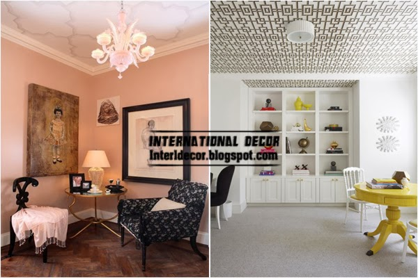 Ceiling Ideas Patterned Wallpaper On The Ceiling Home Ideas