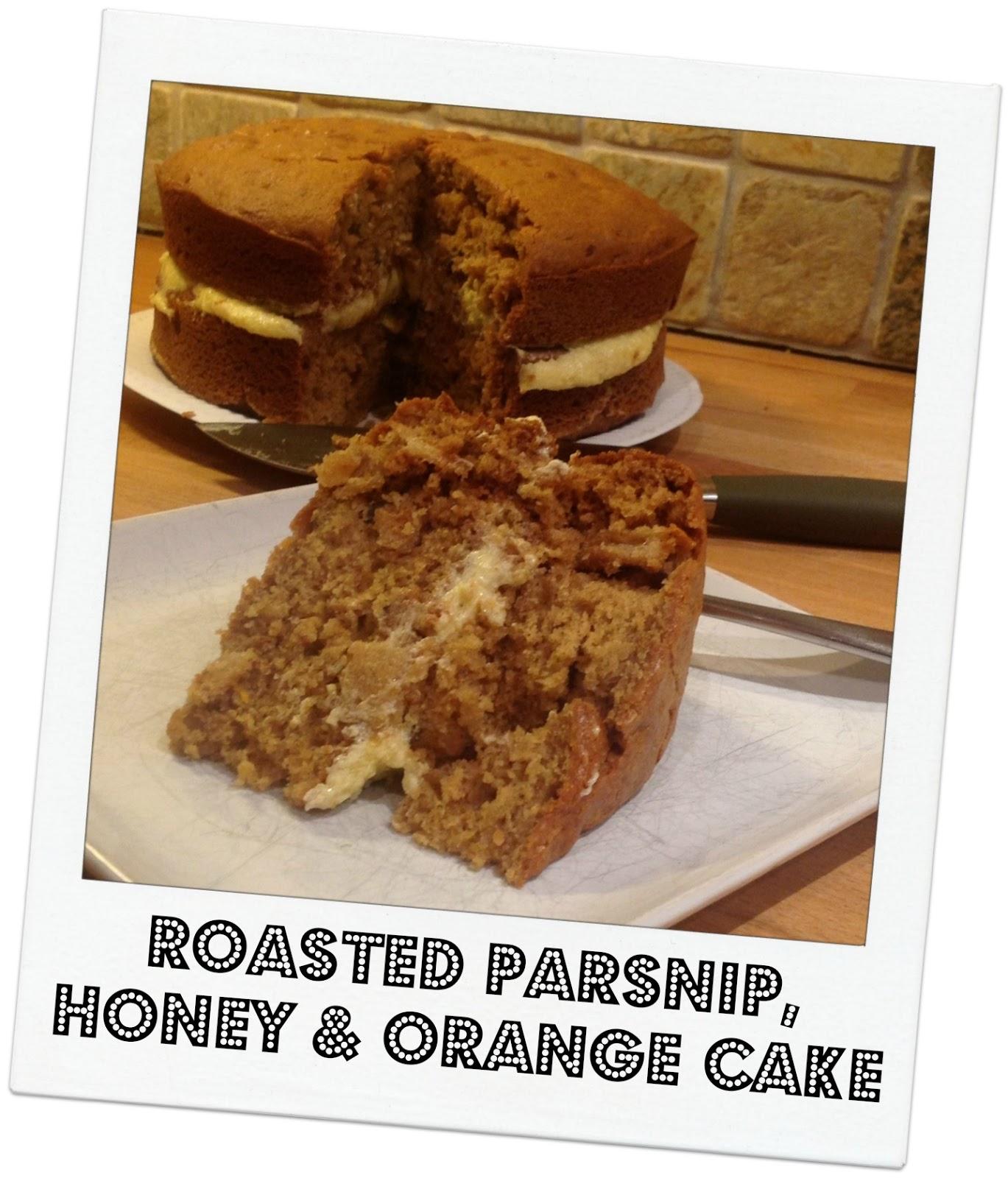 Parsnip, Honey & Orange Cake - Mummy Mishaps
