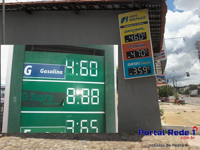 Consumidores não vê diminuição dos preços da gasolina na cidade de Pedro II