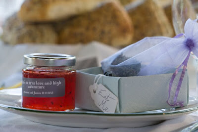 wedding favours getting married rustic wedding scottish borders