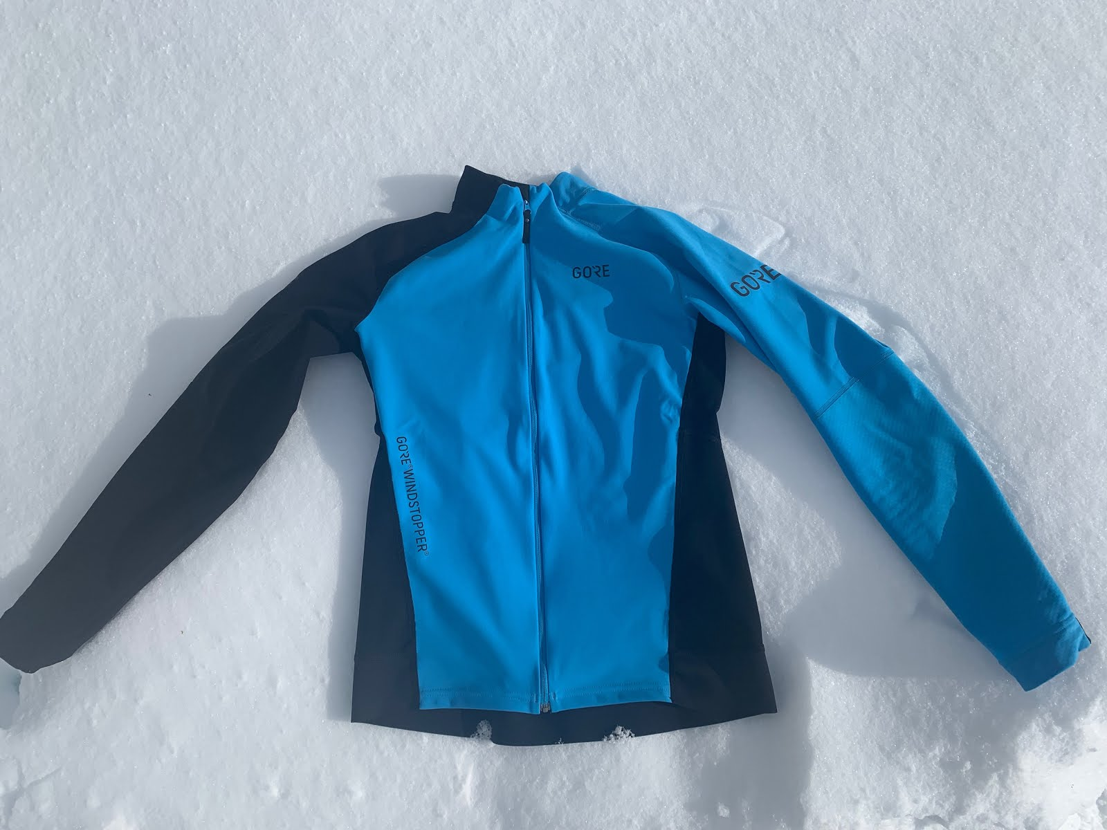 ebb3b6e8efc64 Windstopper itself is not particularly stretchable as it includes a Gore  membrane. The Long Sleeve Shirt fits snug over the chest and front of arms  to the ...
