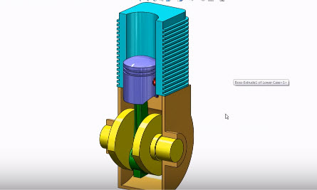 How to Design And Assembly of Engine 3D Modeling in