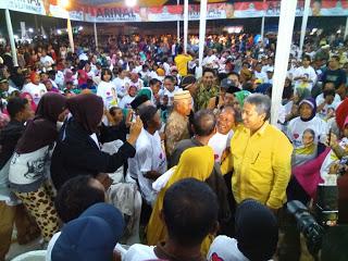 Cagub Lampung Arinal Djunaidi Yang Disambut Meriah Oleh Pendukung nya