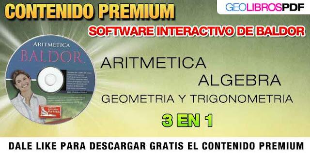 Algebra. Aritmetica, Geometria Software de Baldor