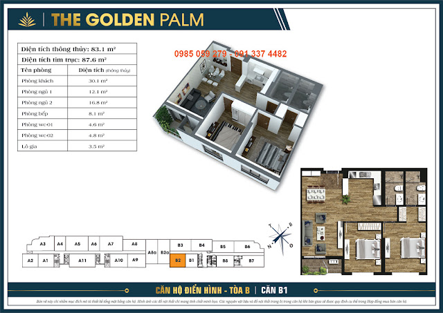 udic westlake mặt bằng thiết kế căn hộ the golden palm lê văn lương