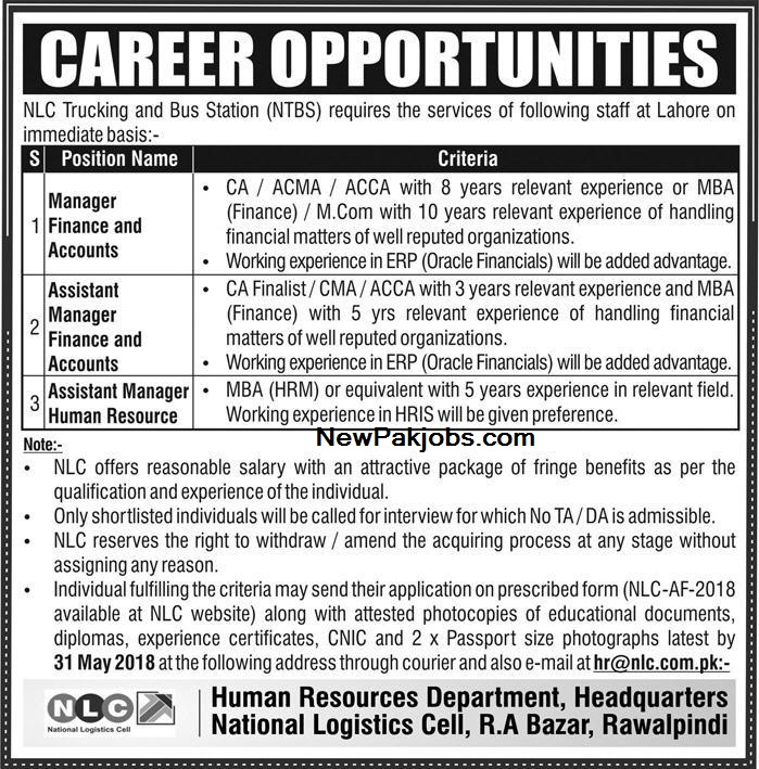 nlc-national-logistics-cell-latest-jobs
