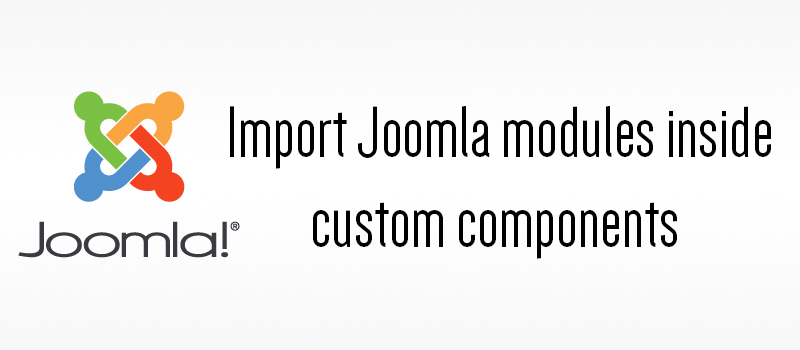 import joomla module inside any custom components