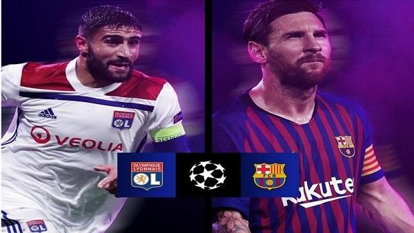 موعد وتوقيت مباراة برشلونة وليون الفرنسي في دور ال16 من دوري أبطال أوروبا وتردد قناة قناة ETV الإثيوبية الناقلة للمباراة مجاناً