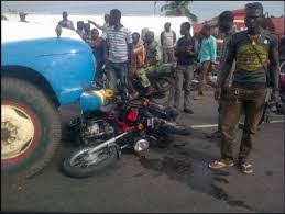 Motorcyclist Crushed To Death in Lagos-Abeokuta Express
