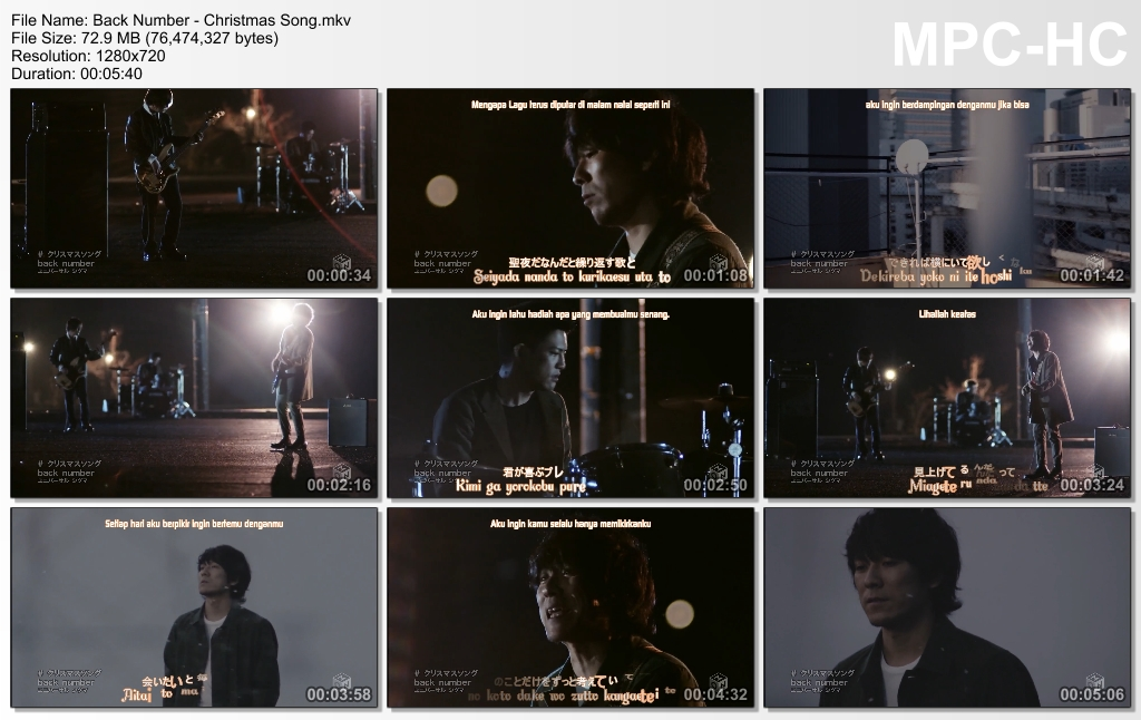 PV] Back Number - Christmas Song (Subtitle Indonesia)