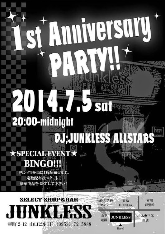JUNKLESS 1st Anniversary