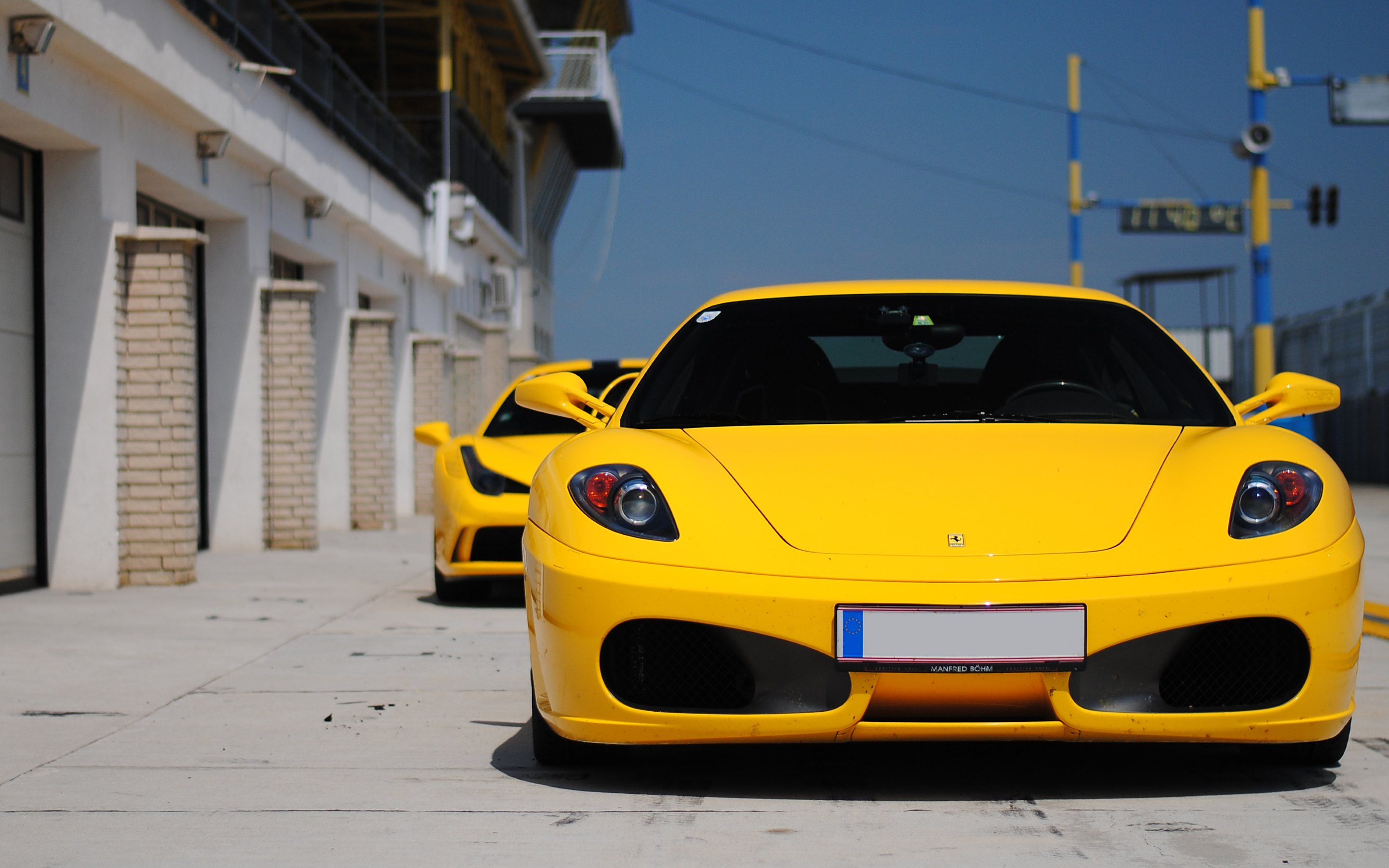 hd wallpaper hot ferrari 458 speciale and behind is a ferrari f430 - Ferrari 458 Speciale Wallpaper