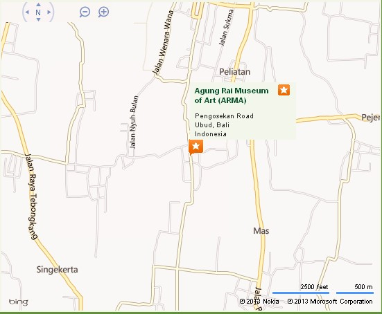 ARMA/Agung Rai Museum of Art Ubud Location Map,Location Map of ARMA/Agung Rai Museum of Art Ubud,ARMA/Agung Rai Museum of Art Ubud Accommodation Destinations Attractions Hotels Map Photos Pictures